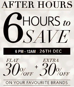 Steal the Deal: 6 Hrs Sale@ Myntraon Brands You Love (FLAT 30% + EXTRA 30% off)