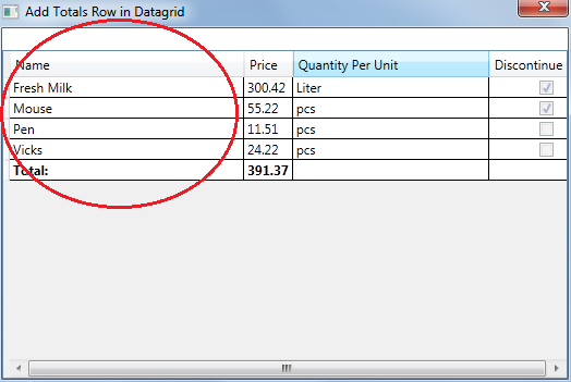 WPF Datagrid (Prevent DataGrid last row from being sorted