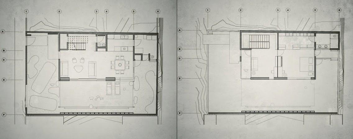 Planos casas modernas planos de arquitecto paul cremoux for Arquitectura de casas modernas planos
