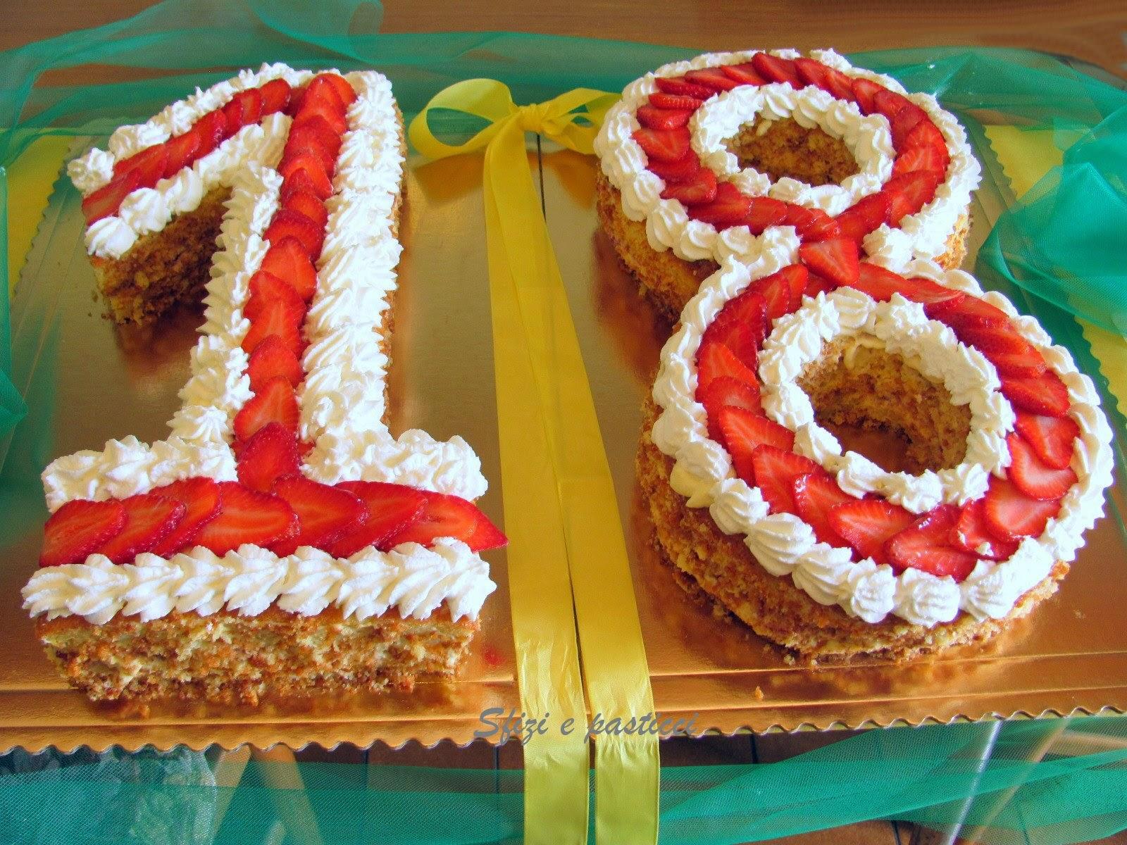 Sfizi e pasticci torta 18 anni for Torte per 18 anni maschile