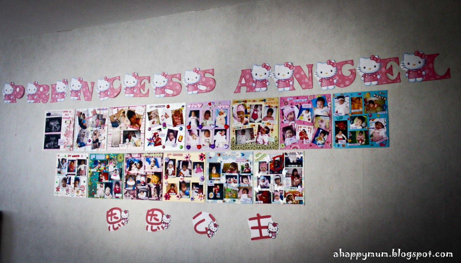 Scrapbook ideas singapore - I Also Made A Photo Gallery Depicting Angel S Monthly Growth From Birth Till 1 Year The Idea Of Using Scrapbook Pages Was So That It Would Be Easy To Keep