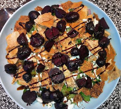 roast beet fattoush salad