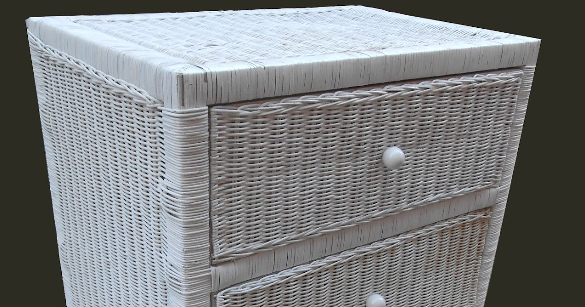 Uhuru furniture collectibles white wicker chest of