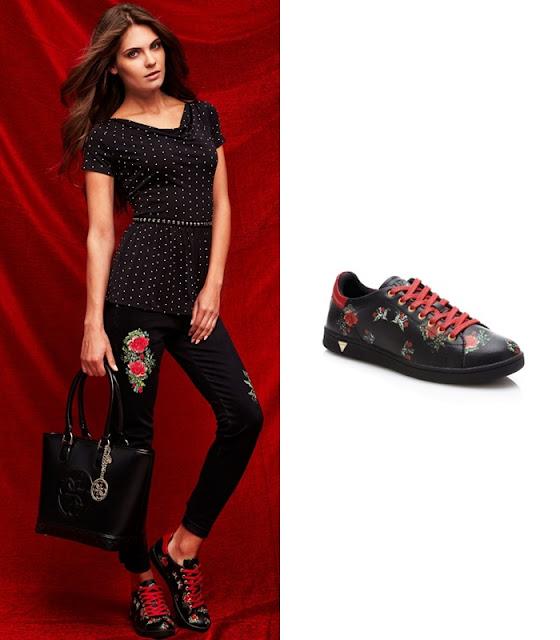 Desejo do dia - Tango Roses Sneaker da Guess ténis pretos