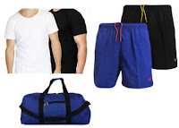 Buy Combo of 2 T-Shirts, 2 Shorts & Duffle Bag at Flat 78% Off at ?  399 Via shopclues:buytoearn