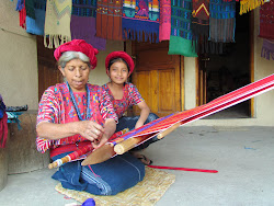 Mother and Daughter weaving, Santa Catarina, Lago Atitlan