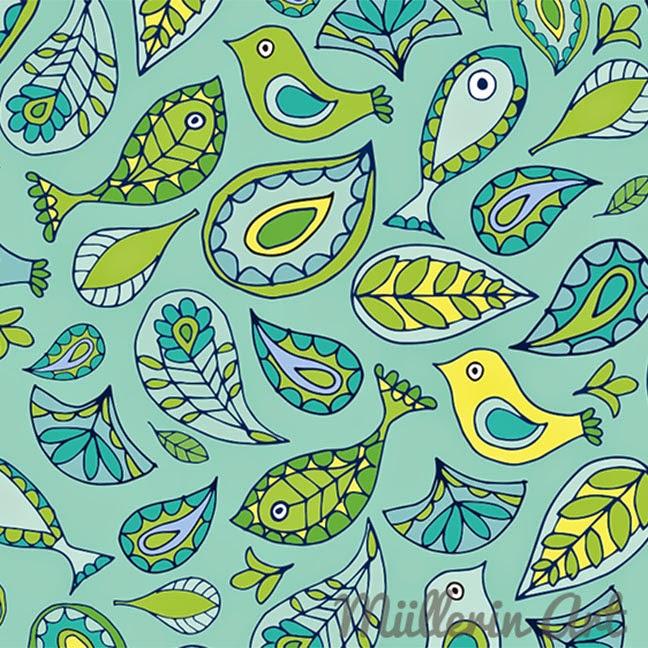 Paisleybirds-Muster nach Müllerin Art
