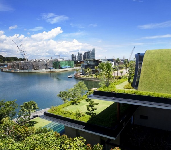 Modern Home Design With Garden And Greenery All Levels