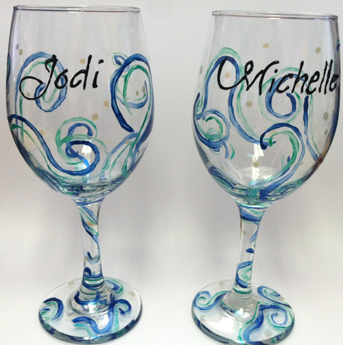 usethe wine glasses with lan and revel in your creations in the - Wine Glass Design Ideas