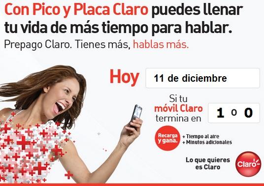 claro hoy Martes 11 de diciembre 2012 hoy es dia pico y placa comcel