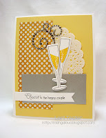 Cheers to the Happy Couple-designed by Lori Tecler-Inking Aloud-stamps and dies from Papertrey Ink