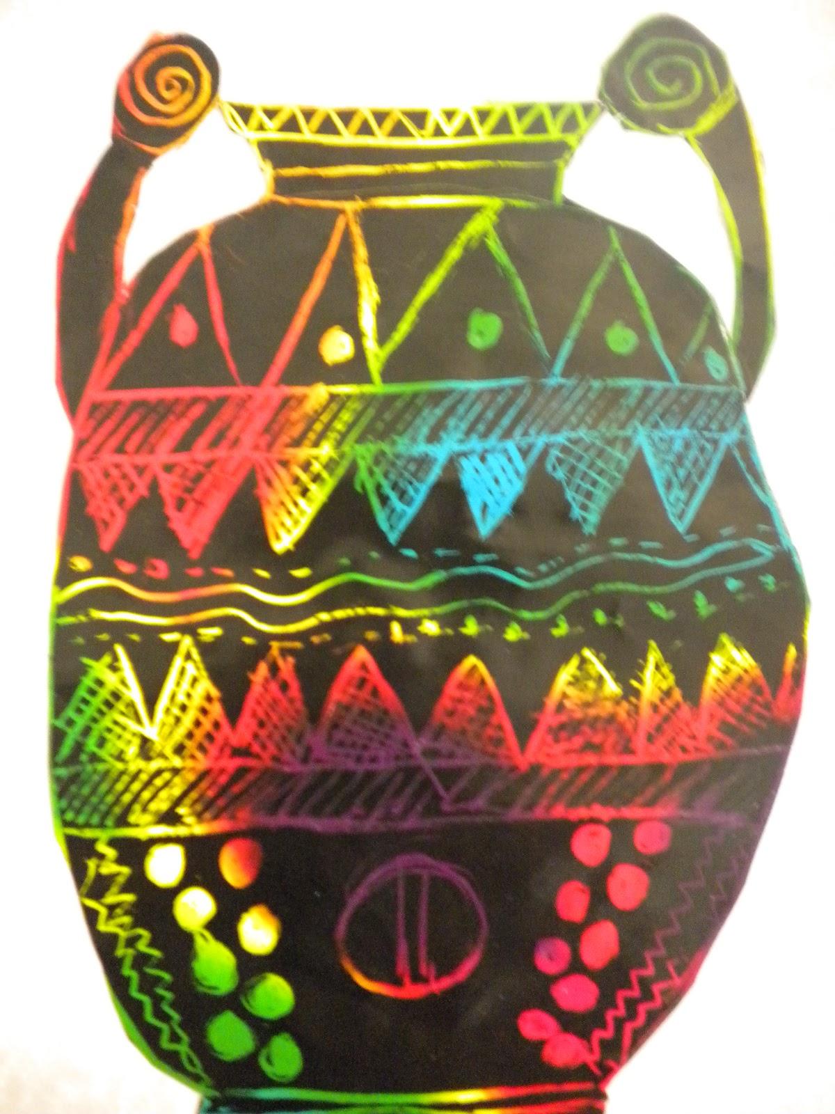 Waitsfield elementary art greek vases on scratch board reviewsmspy