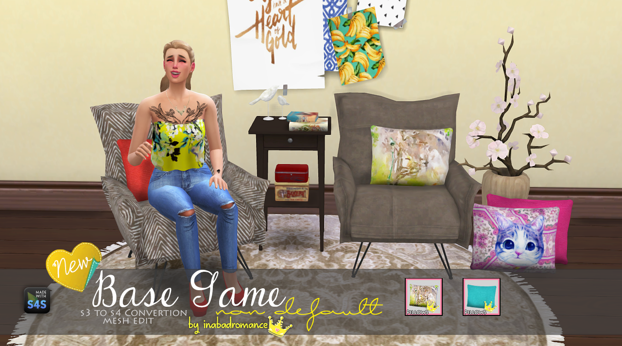 My Sims 4 Blog: Throw Pillows by Inabadromance