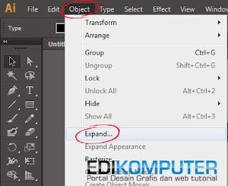 Cara Mengconvert Tulisan di Adobe Illustrator