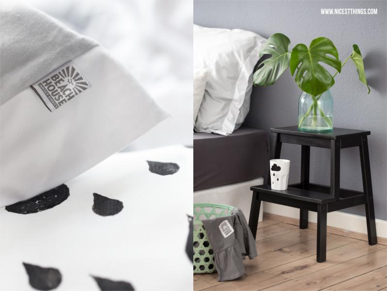 Ikea Hocker Trittleiter Bekväm Schwarz Schlafzimmer