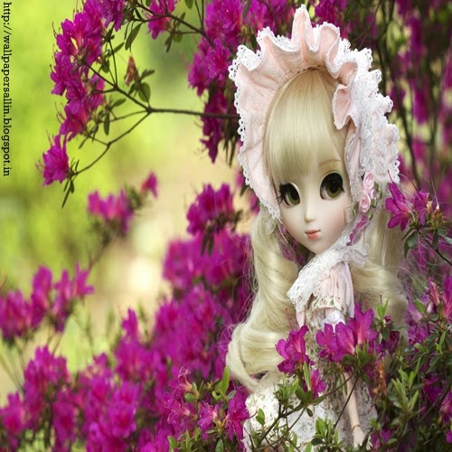 wallpaper of barbie doll