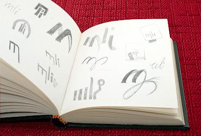 Planche de recherche du logo MLI