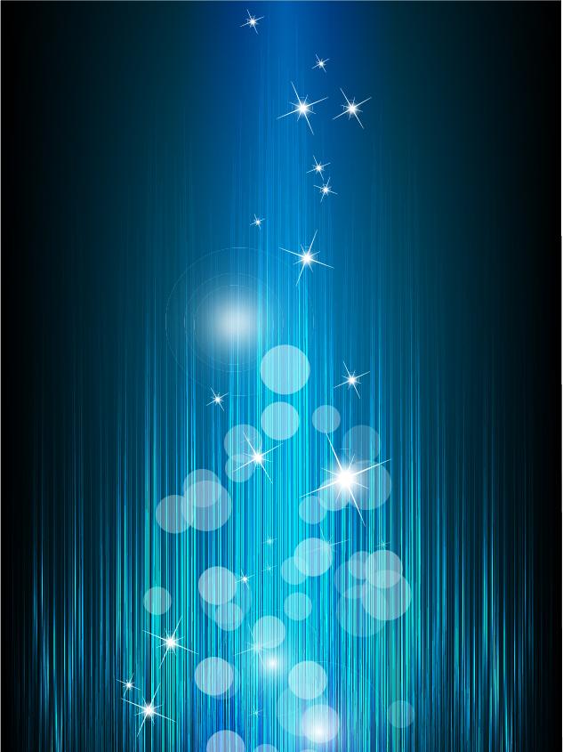 青い光が降り注ぐ背景 light circle spotted blue backgrounds イラスト素材