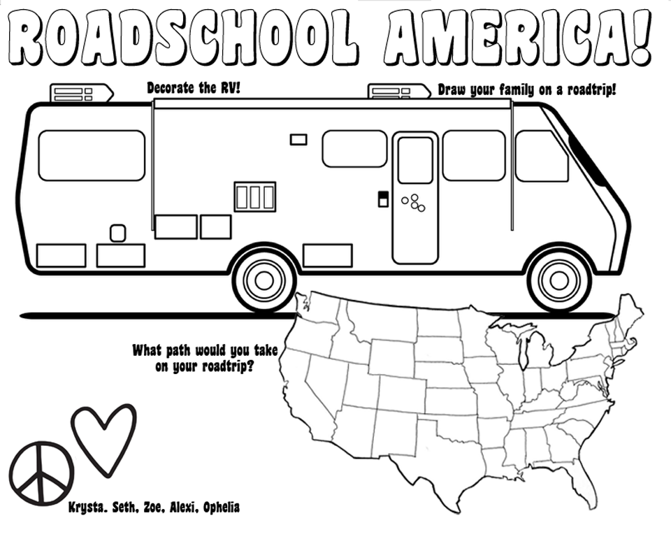 motorhome coloring pages - photo#7