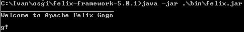 Apache Felix 5.0.1 - Gogo Console