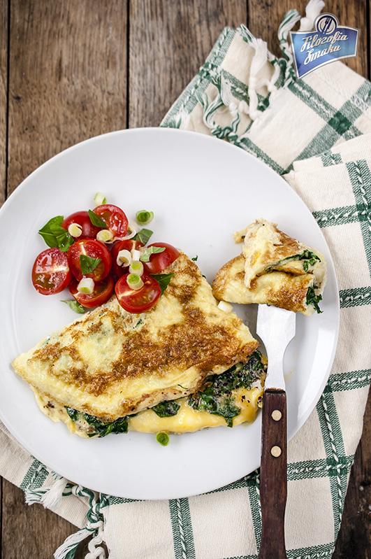 Omlet ze szpinakiem przepis