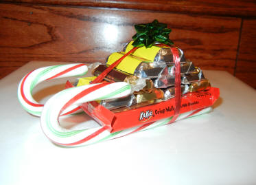 Candy Bar Christmas Sleigh