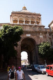 Ancient Portal, down town Palermo, Sicily