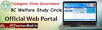 TS BC Study Circles,Web portal, TSBCStudycircles.CGG.GOV.IN
