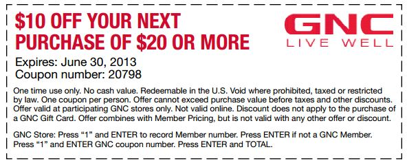 Gnc in store coupons march 2018