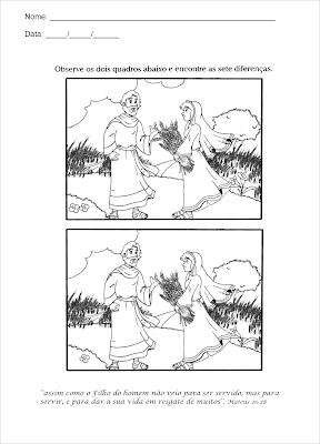 Rute - atividade bíblica as sete diferenças