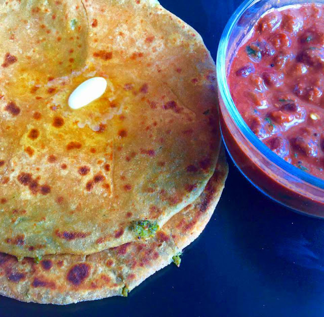 Broccoli ParathaIndian Breads, Stuffed Parathas & Wraps