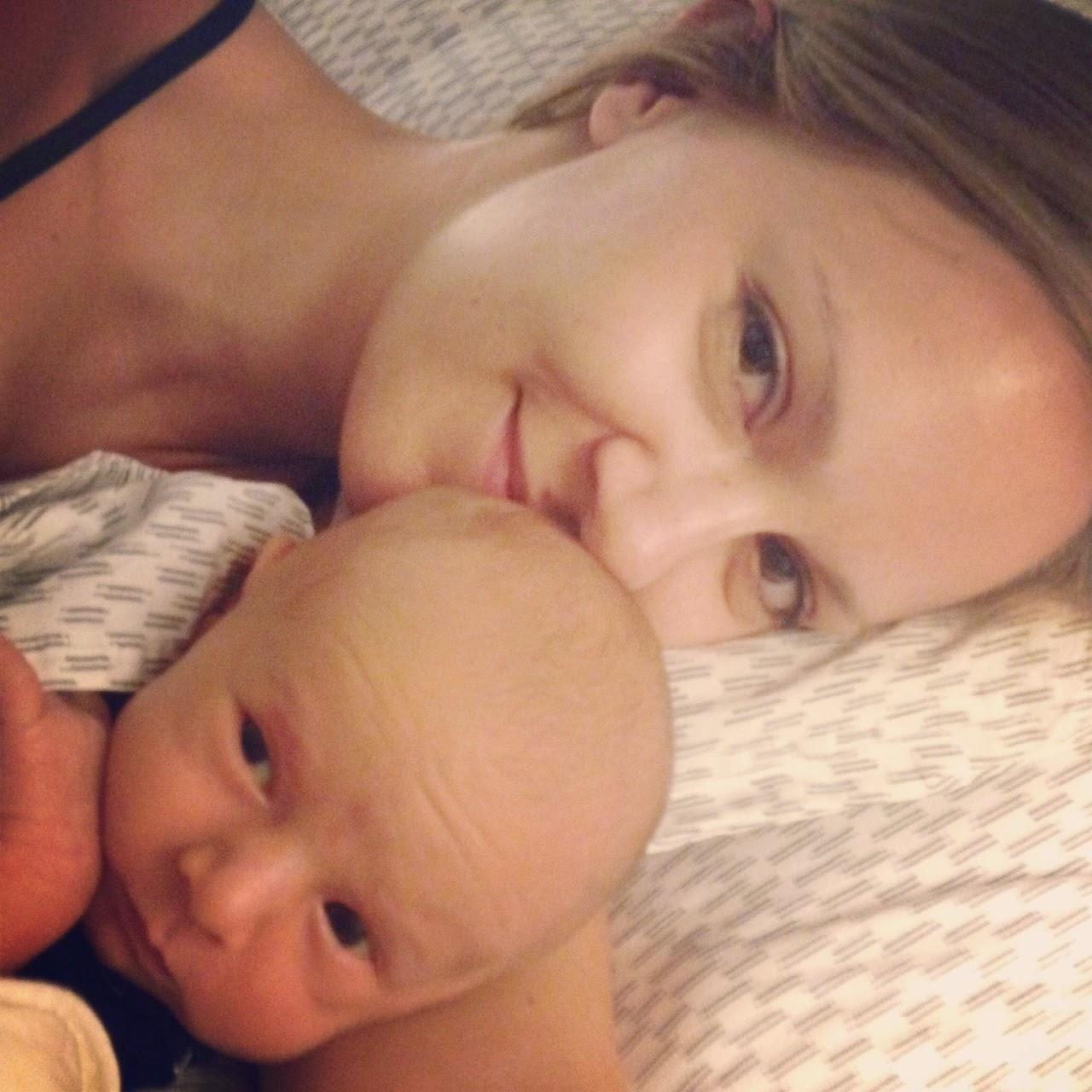 Lake night #breastfeeding snuggles