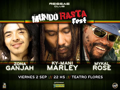 [Reggae] Ky-Mani Marley, Mykal Rose, Zona Ganjah en Flores