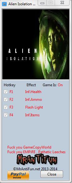 Alien Isolation V1.00 Trainer +4 MrAntiFun
