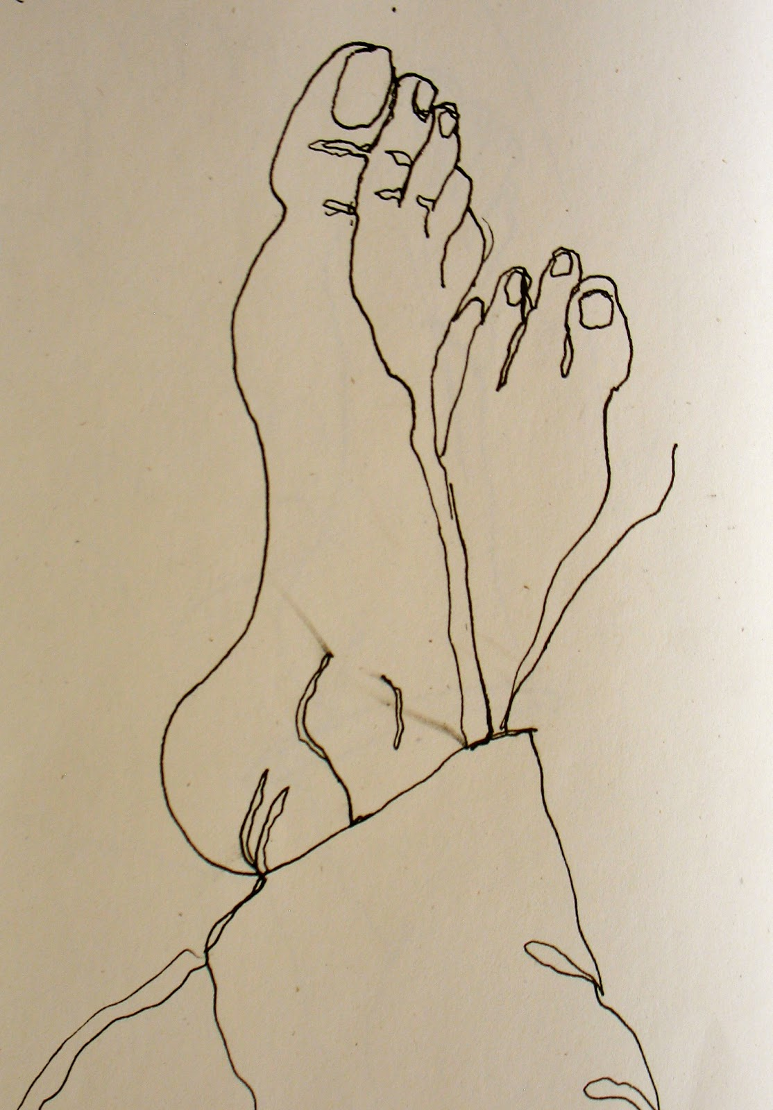 Contour Line Drawing Person : The painted prism sketchbook assignment contour drawing