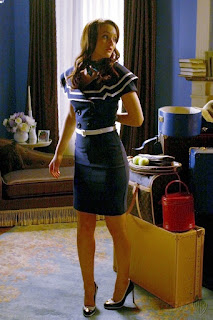 Fashionista Blair Waldorf from Gossip Girl style preppy clothing.