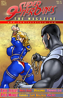 Beautiful and Sexy Superheroine XXX comic book cover
