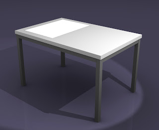 Table galet led