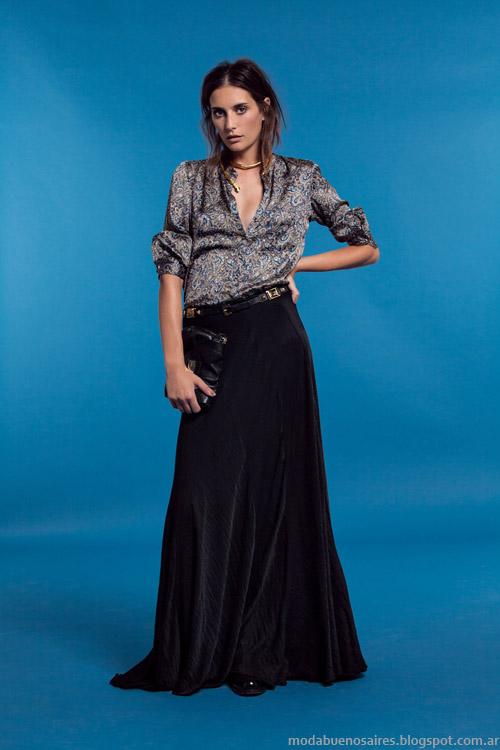 Maxifaldas moda invierno 2013 Carmela Achaval.