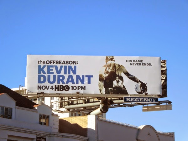 The Offseason Kevin Durant HBO billboard