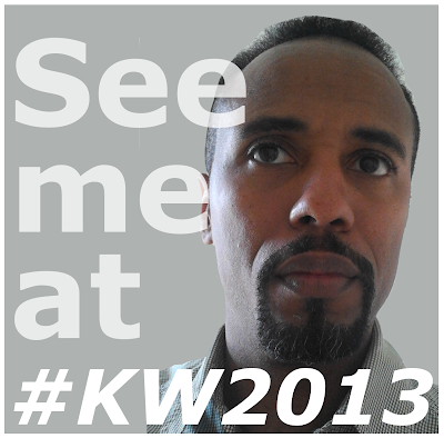 Photo of Victorio Milian with caption that says, See me at #KW2013