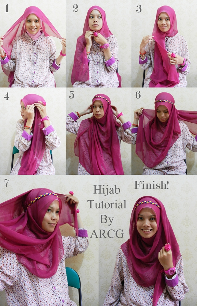 gambar 2nd+Hijab+Tutorial gambar tutorial hijab square