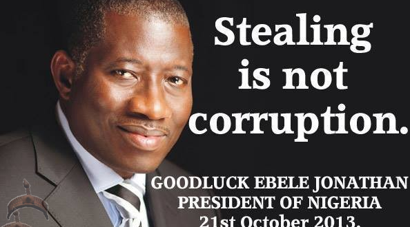 stealing is not corruption jonathan