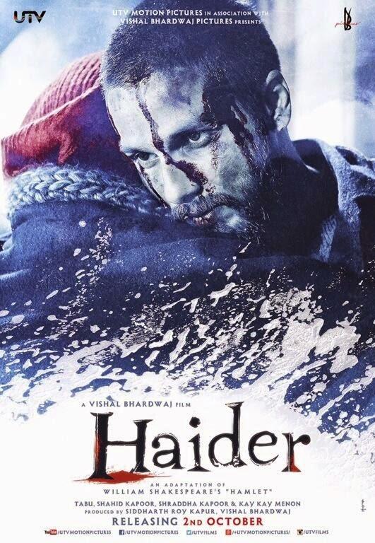 Haider 2014 Hindi BluRay 480p 450mb ESub