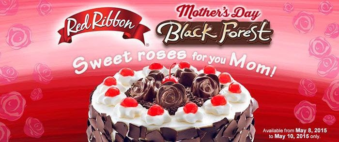 Red Ribbon Mother's Day Black Forest Cake and Mother's Day Mamon