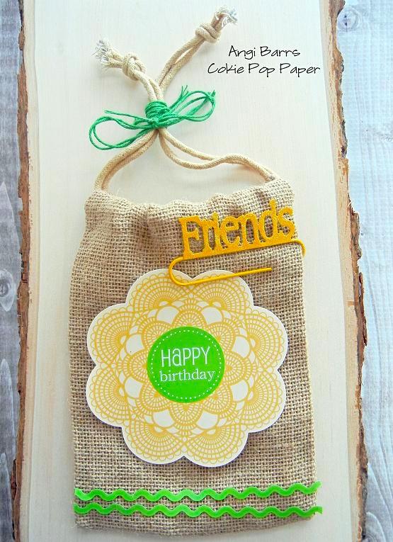 SRM Stickers Blog - Burlap Bags by Angi - #birthday #burlap #bag #stickers #gift bag