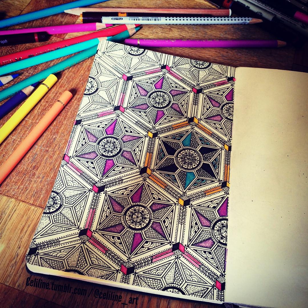 17-Celiline-Hand-Drawn-Zentangle-Doodles-Illustrations-Drawings-www-designstack-co
