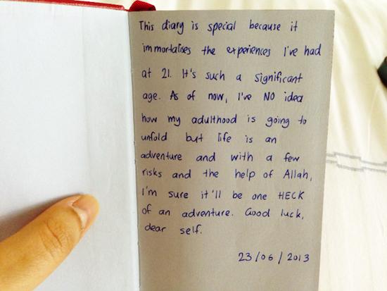 how to write my diary