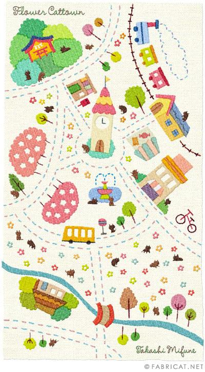 可愛いイラスト地図 フラワー番地