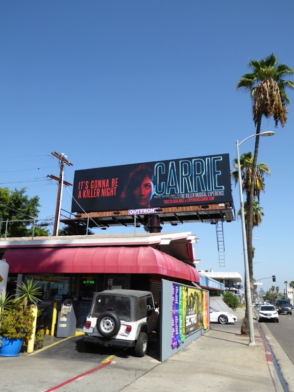 Carrie Musical experience billboard